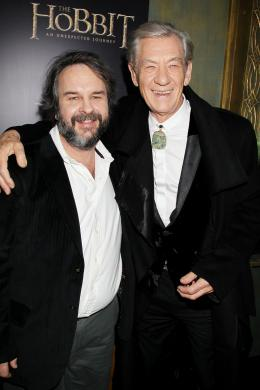 photo 213/221 - Ian McKellen, Peter Jackson - Le Hobbit : un voyage inattendu - © Warner Bros