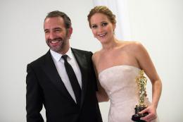 85ème Cérémonie des Oscars 2013 Jean Dujardin et Jennifer Lawrence - 85ème Cérémonie des Oscars 2013 photo 2 sur 108