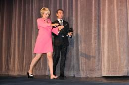 photo 36/38 - Emma Thompson et Pierce Brosnan - Présentation du film Love Punch - Toronto 2013 - Duo d'Escrocs - © Isabelle Vautier pour CommeAuCinema.com
