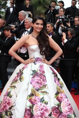Sonam Kapoor Mont�e des marches Jeune et Jolie - Cannes 2013 photo 1 sur 4