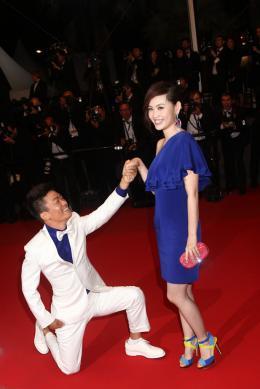photo 8/13 - Baoqiang Wang et sa femme - Pr�sentation du film Touch of Sin - A touch of sin - © Isabelle Vautier pour CommeAuCinema.com