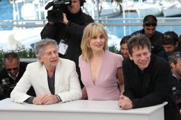 photo 27/48 - Roman Polanski, Emmanuelle Seigner et Mathieu Amalric - Photocall du film La Venus à la Fourrure - Cannes 2013 - La Venus à la fourrure - © Isabelle Vautier pour CommeAuCinema.com