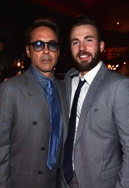 photo 45/122 - Robert Downey Jr, Chris Evans - Avant-première à Los Angeles - Avengers : L'Ère d'Ultron - © Getty Images - Disney