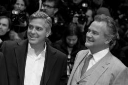 photo 69/95 - George Clooney et Hugh Bonneville - Pr�sentation du film Monuments Men, Berlin 2014 - Monuments Men - © Isabelle Vautier pour CommeAuCinema.com