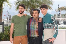 Xenia Nikos Gelia, Panos Koutras, Kostas Nikouli - Photocall pour Xenia - Cannes 2014 photo 9 sur 10