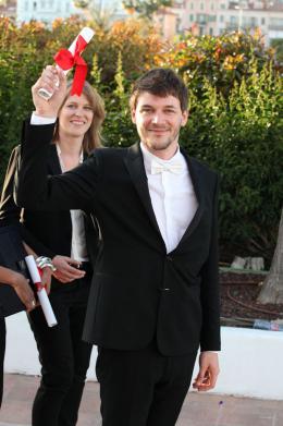Samuel Theis Photocall des Laur�ats du 67�me Festival International du Film de Cannes 2014 photo 3 sur 9