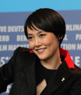 photo 16/29 - Rinko Kikuchi - Conférence Berlin 2015 - Personne n'attend la nuit - © Isabelle Vautier pour Commeaucinema.com