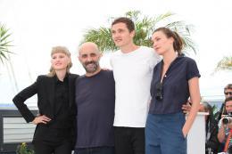 photo 11/15 - Klara Kristin, Gaspar Noé, Karl Glusman, Aomi Muyock - Cannes 2015 - Love - © Isabelle Vautier pour Commeaucinema.com