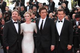 photo 23/39 - Denis Villeneuve, Emily Blunt, Benicio Del Toro, Josh Brolin - Cannes 2015 - Sicario - © Isabelle Vautier pour Commeaucinema.com