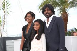 Dheepan Kalieaswari Srinivasan, Claudine Vinasithamby, Antonythasan Jesuthasan - Cannes 2015 photo 9 sur 22