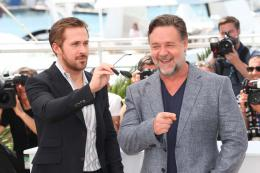 photo 62/73 - Ryan Gosling, Russel Crowe - Photocall Cannes 2016 - The Nice Guys - © Isabelle Vautier pour @CommeAuCinema