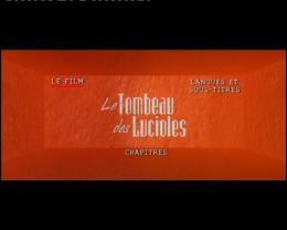 Le Tombeau des lucioles Menu Dvd photo 1 sur 2