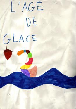 photo 37/43 - Dessin d'un élève de CM1a, école Littré de Paris 6ème) - L'âge de glace 2 - © Commeaucinema.com 2006
