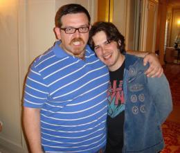 Edgar Wright Avec Nick Frost pour la sortie de Hot Fuzz photo 7 sur 12