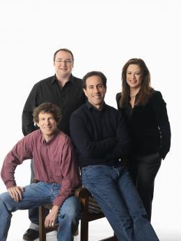 photo 216/217 - Steve Hickner, Simon J. Smith, Jerry Seinfeld et Christina Steinberg - Bee Movie - Drôle d'Abeille - © Paramount