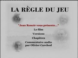 photo 11/14 - Menu Dvd - La Règle du jeu