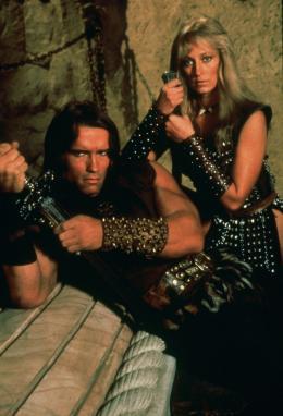 photo 5/23 - Arnold Schwarzenegger, Sandahl Bergman - Conan le barbare - © Fox Path� Europa