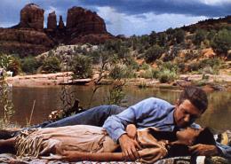 photo 2/6 - James Stewart et Debra Paget - La flèche brisée - © Swashbuckler Films