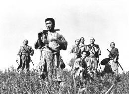 Les Sept Samouraïs Yoshio Inaba, Toshiro Mifune, Daisuke Kato, Minoru Chiaki, Isao Kimura, Takashi Shimura et Seiji Miyaguchi photo 9 sur 16
