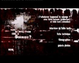 photo 2/2 - Menu Dvd - Mais qu'avez-vous fait à Solange ? - © Neo Publishing