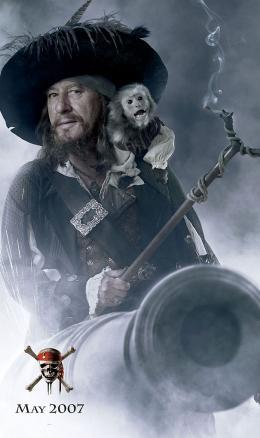 photo 5/43 - Affiche Teaser (Geoffrey Rush) - Pirates des Caraïbes : Jusqu'au bout du monde - © BVI