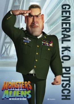 photo 26/121 - Affiche Allemande - Monstres contre Aliens - © Paramount