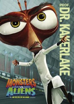 photo 24/121 - Affiche Allemande - Monstres contre Aliens - © Paramount