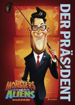 photo 25/121 - Affiche Allemande - Monstres contre Aliens - © Paramount