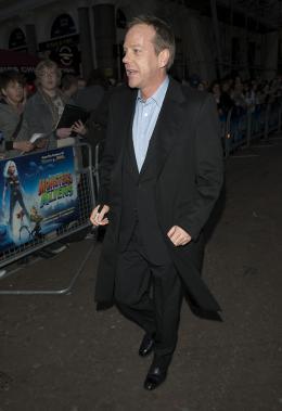 photo 95/121 - Kiefer Sutherland - Avant-première à Londres (Mars 2009) - Monstres contre Aliens - © Paramount