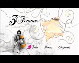 Trois Femmes Menu dvd photo 1 sur 2