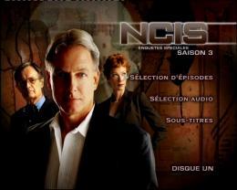 NCIS Enquêtes spéciales - Saison 3 Menu Dvd photo 1 sur 2