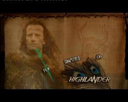 Coffret Highlander Menu DVD photo 1 sur 2
