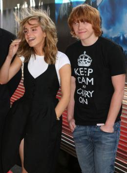 photo 105/127 - Rupert Grin et Emma Watson - Harry Potter et l'ordre du Phénix - © Isabelle Vautier - Pour Commeaucinema.com 2007