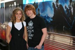 photo 103/127 - Rupert Grin et Emma Watson - Harry Potter et l'ordre du Phénix - © Isabelle Vautier - Pour Commeaucinema.com 2007
