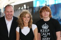 photo 109/127 - David Yates, Rupert Grin et Emma Watson - Harry Potter et l'ordre du Phénix - © Isabelle Vautier - Pour Commeaucinema.com 2007