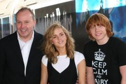 photo 96/127 - David Yates, Rupert Grin et Emma Watson - Harry Potter et l'ordre du Phénix - © Isabelle Vautier - Pour Commeaucinema.com 2007