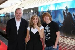 photo 97/127 - David Yates, Rupert Grin et Emma Watson - Harry Potter et l'ordre du Phénix - © Isabelle Vautier - Pour Commeaucinema.com 2007