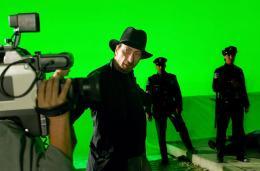 Frank Miller (l) Sur le tournage de The Spirit photo 2 sur 2