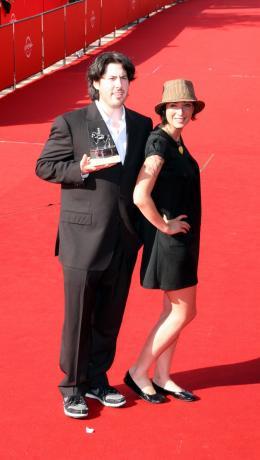 Diablo Cody Avec Jason Reitman (Prix du Meilleur Film pour Juno - Tapis rouge du palmarès du Festival de Rome 2007 photo 9 sur 9