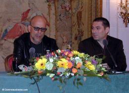 photo 17/22 - Bruce Willis & Florent Siri - Conférence de presse Paris, Avril 2005 - Otage