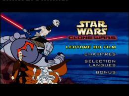 photo 1/2 - Menu Dvd - Star Wars : Clone Wars