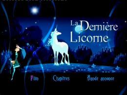 photo 9/10 - Menu Dvd - La Dernière licorne