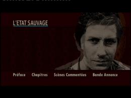 L'etat sauvage Menu Dvd photo 2 sur 2