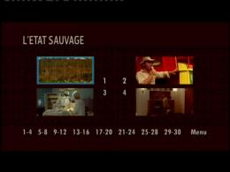 L'etat sauvage Menu Dvd photo 1 sur 2