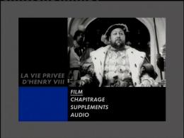 photo 1/2 - Menu Dvd - La Vie privée d'Henry Vlll