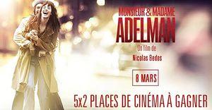 Monsieur & Madame Adelman (10 places de cinéma à gagner)