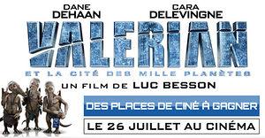 Valerian et la Cité des Milles Planètes (des places de ciné à gagner)