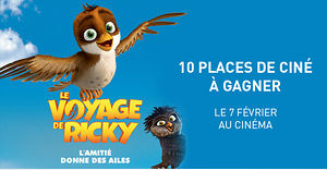 LE VOYAGE DE RICKY (10 places de ciné à gagner)