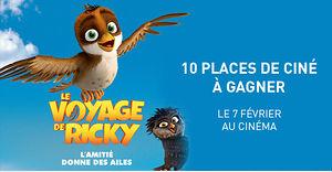 LE VOYAGE DE RICKY (10 places de ciné à gagner)