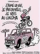 j'aime la vie, je fais du vélo, je vais au cinéma